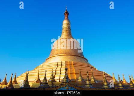 South East Asia, Myanmar, Bago, Shwemawdaw Paya pagoda - Stock Photo