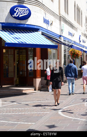 Boots store. Retail shop - Stock Photo