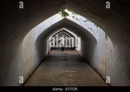 Yogyakarta, Java, Indonesia.  Tunnel leading from the Underground Mosque, part of the Taman Sari (Water Palace) - Stock Photo