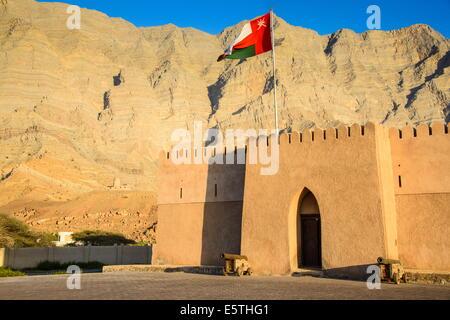 Bukha castle, Musandam, Oman, Middle East - Stock Photo