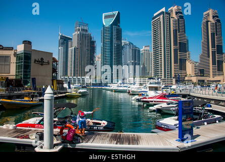 Dubai Marina, Dubai, United Arab Emirates, Middle East - Stock Photo