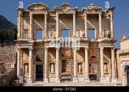 Celsus Library Ephesus Turkey - Stock Photo