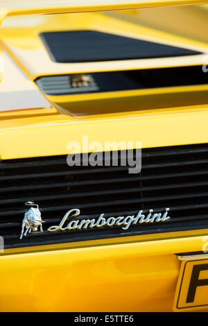 Lamborghini rear end abstract. Italian super car - Stock Photo