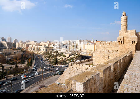 View from the city wall of Jerusalem - Stock Photo