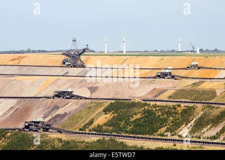 Brown coal open pit mine - Stock Photo