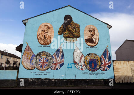 Mural in Protestant Shankill Road area of Belfast, Northern Ireland. - Stock Photo