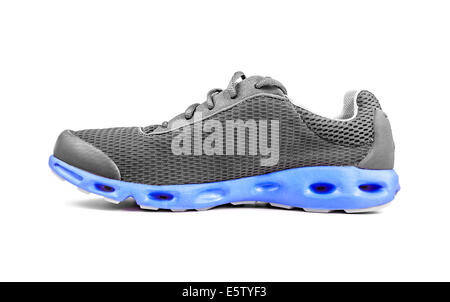 Unbranded Sneaker isolated on a white background - Stock Photo