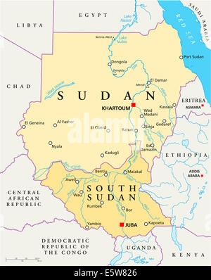 Abstract South sudan map Stock Vector Art Illustration Vector