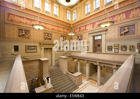 The inside of the Grade I listed Manchester Art Gallery on Mosley Street in city centre Manchester, UK (Editorial - Stock Photo