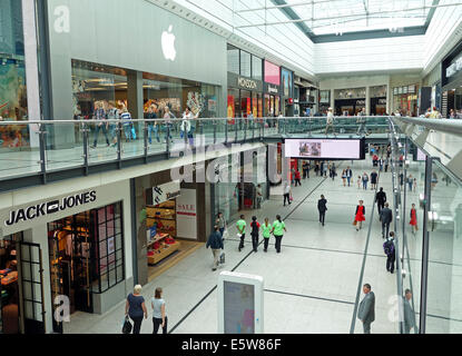 Inside of the Arndale shopping centre, Manchester, UK - Stock Photo