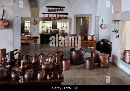 Sintra, Portugal - the Kitchen at the Pena National Palace - Stock Photo