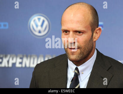 Cologne, Germany. 06th Aug, 2014. Actor Jason Statham arrives for the premiere of the movie 'The Expendables 3' - Stock Photo