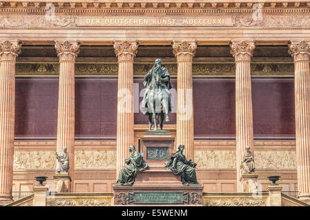 Old National gallery (Alte Nationalgalerie) at the Museumsinsel in Berlin - Stock Photo