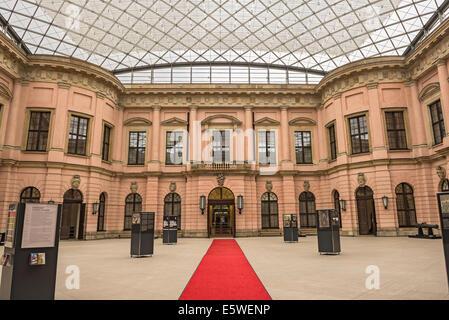 Inner courtyard of the German Historical Museum (Deutsches Historisches Museum) in Berlin - Stock Photo