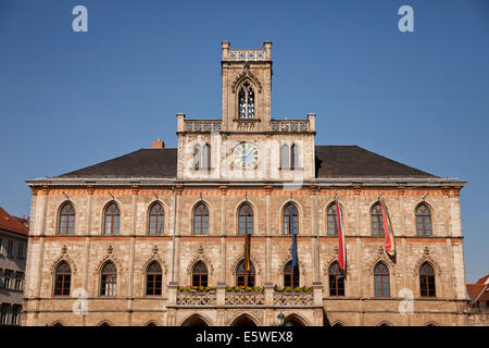Weimar city hall, Thuringia, Germany, Europe - Stock Photo