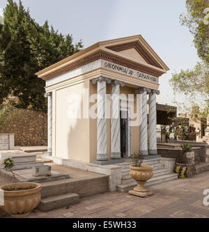 Crypt in the Greek Orthodox cemetery in Convent of St George in Coptic or Old Cairo, Egypt - Stock Photo