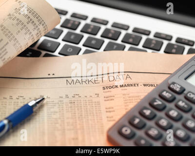 Financial services, viewing financial markets for investing - Stock Photo
