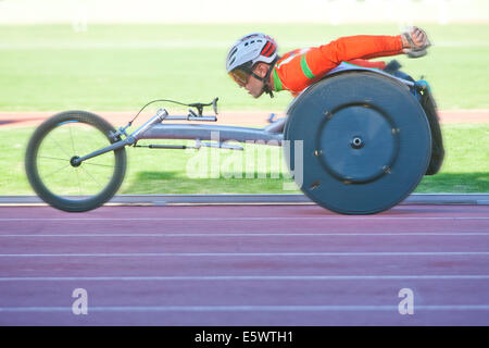 Athlete in para-athletic competition - Stock Photo