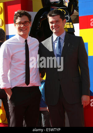 The Lego Movie Premiere held at The Regency Village Theatre in Los Angeles CA. 1-2-2014 Featuring: Directors Phil - Stock Photo