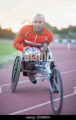 Close up of para-athlete - Stock Photo