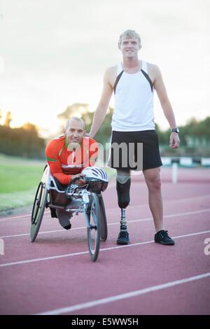 Para-athletes on track - Stock Photo