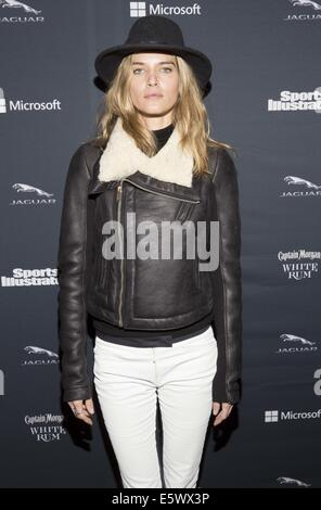 Sports Illustrated Super Bowl Party sponsored by Jaguar Captain Morgan Rum and Delta Airlines - Arrivals Featuring: - Stock Photo