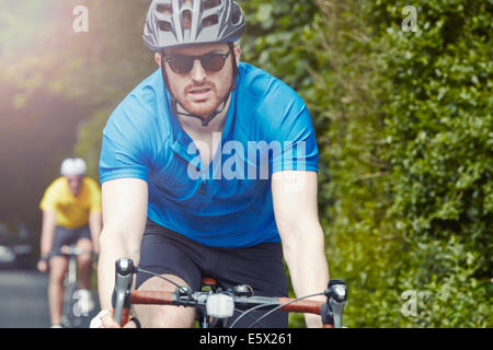 Cyclists on their bikes - Stock Photo