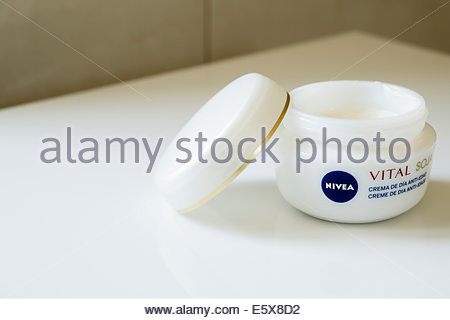 Nivea Vital soja moisturing day cream as sold in Portugal - Stock Photo
