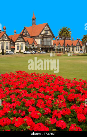 The Rotorua Museum of Art and History located in the Government Gardens in Rotorua, Bay of Plenty, North Island, - Stock Photo