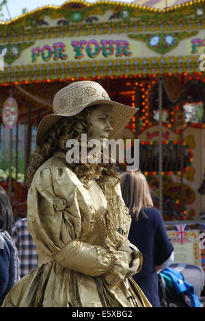 artist at work on South Bank London United Kingdom - Stock Photo