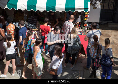 London, England - 3rd August 2014 'Feast' food festival showcases the best of London's restaurants and street food - Stock Photo