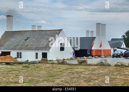 Denmark, Bornholm Island Pictures taken between 1st and 5th August 2014.  Pictured: Herring smokehouse at Hasle - Stock Photo