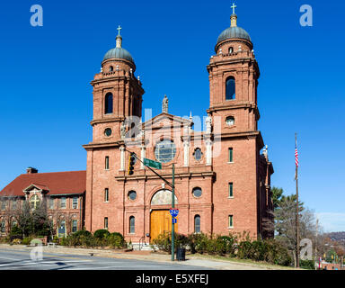 The Basilica of St Lawrence on Haywood Street in downtown Asheville, North Carolina, USA - Stock Photo