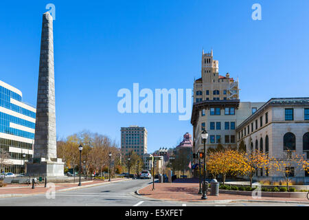 Pack Square in downtown Asheville, North Carolina, USA