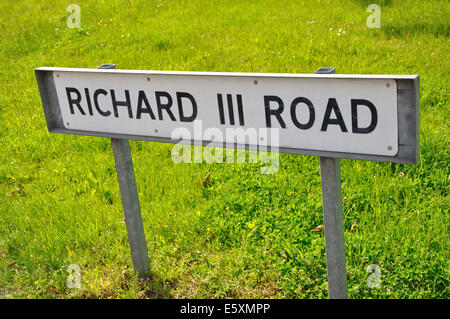 Richard III Road, road name sign, Leicester, England, UK - Stock Photo