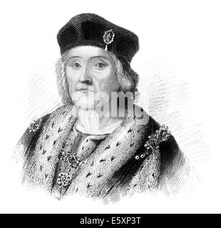 Henry VII, 1457 - 1509, King of England and Lord of Ireland, - Stock Photo
