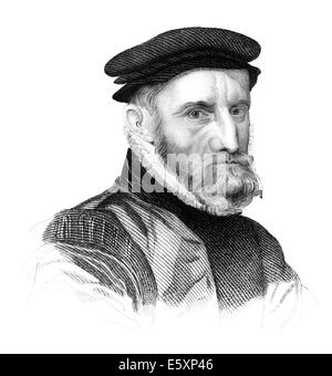 Sir Thomas Gresham the Elder, 1519-1579, an English merchant and financier, - Stock Photo