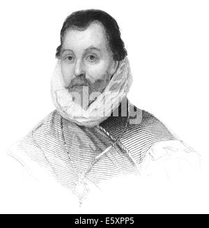 Sir Francis Drake, circa 1540 - 1596, an English sailor, pirate, explorer, Vice Admiral and the first English circumnavigator, - Stock Photo