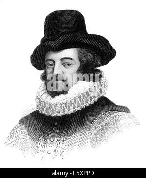 Francis Bacon or Baron Baco of Verulam, 1561 - 1626, an English philosopher, statesman and scientist, - Stock Photo