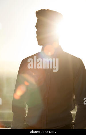 Young man, silhouette - Stock Photo