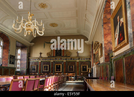 Interior of Trinity College Hall used as a dining room. Oxford University, Oxford, Oxfordshire, England, United - Stock Photo