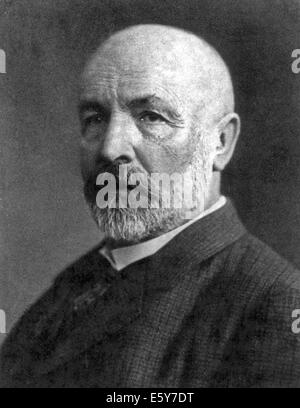 GEORG CANTOR (1845-1918) German mathematician who invented set theory - Stock Photo
