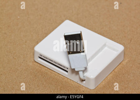 the reader card port - Stock Photo