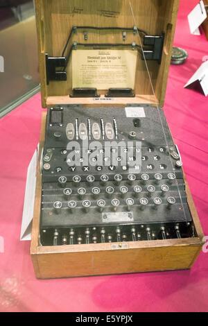 German enigma cipher machine from World War I - Stock Photo