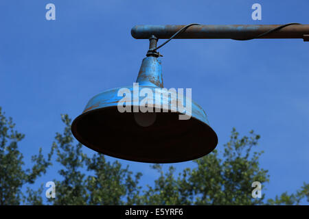 A metal lamp on a post on a street in Orlando, Florida, USA - Stock Photo