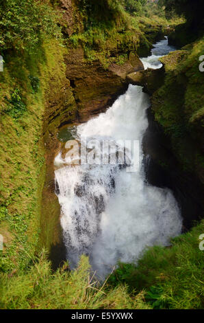 Hell's Falls or Devil waterfall at Pokhara in Annapurna Valley Nepal - Stock Photo