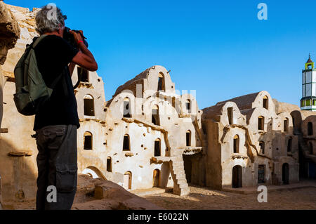Africa, North Africa, Maghreb, South Tunisia, Governorat of Tataouine. Ksar Ouled Soltane. - Stock Photo