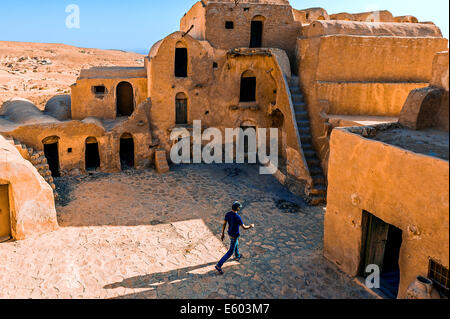 Africa, North Africa, Maghreb, South Tunisia. Governorat of Tataouine. Ksar Ouled Soltane. - Stock Photo