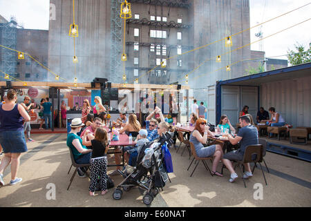 London, England - 9 August 2014 The Power of Sumner and Street Feast Festival at the Battersea Power Station - Stock Photo