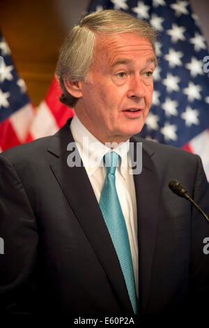 Democratic Senator Ed Markey discusses Net Neutrality during a press conference July 15, 2014 in Washington, DC. - Stock Photo
